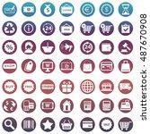 vector illustration set of... | Shutterstock .eps vector #487670908