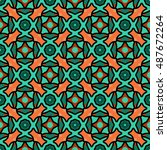 abstract geometric pattern.... | Shutterstock .eps vector #487672264