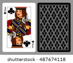 jack of clubs playing card and... | Shutterstock .eps vector #487674118