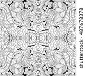 tracery seamless calming... | Shutterstock .eps vector #487678378