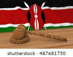kenyan law concept   flag of... | Shutterstock . vector #487681750