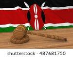 kenyan law concept   flag of... | Shutterstock . vector #487681750