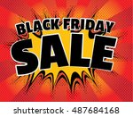 retro style black friday sale... | Shutterstock .eps vector #487684168
