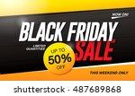 black friday sale banner | Shutterstock .eps vector #487689868