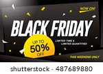 black friday sale banner | Shutterstock .eps vector #487689880