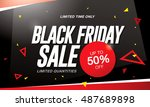 black friday sale banner | Shutterstock .eps vector #487689898