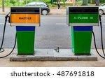 Gas Pump In Paris   Diesel And...