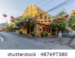 hoi an  vietnam   july 17  2015 ... | Shutterstock . vector #487697380