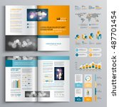 business brochure template... | Shutterstock .eps vector #487701454
