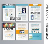 business brochure template... | Shutterstock .eps vector #487701460
