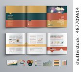 business brochure template... | Shutterstock .eps vector #487709614
