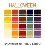 halloween classic tone colors.... | Shutterstock .eps vector #487712890