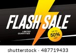 flash sale banner template... | Shutterstock .eps vector #487719433
