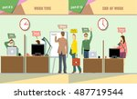 digital vector company work... | Shutterstock .eps vector #487719544