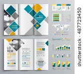 white business brochure... | Shutterstock .eps vector #487723450