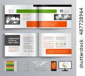 white business brochure... | Shutterstock .eps vector #487728964