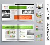 white business brochure... | Shutterstock .eps vector #487728970