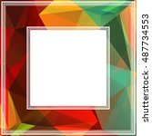 polygonal abstract background... | Shutterstock . vector #487734553