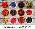 set various berries....   Shutterstock . vector #487738309