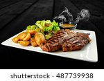 Plate With Thick Angus Stake ...