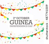 independence day of guinea. | Shutterstock .eps vector #487741009