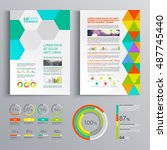 creative business brochure... | Shutterstock .eps vector #487745440