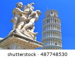marble statue in front of the... | Shutterstock . vector #487748530