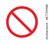 not allowed symbol   signs | Shutterstock .eps vector #487755988