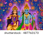 vector design of indian god... | Shutterstock .eps vector #487763173