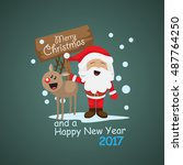 santa claus greeting card  ...