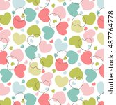 hearts pattern love background | Shutterstock .eps vector #487764778