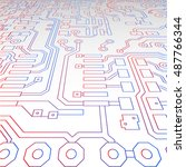 abstract technological... | Shutterstock .eps vector #487766344