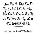 alphabet letters lowercase ... | Shutterstock .eps vector #487769416