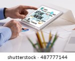 technology internet system and... | Shutterstock . vector #487777144