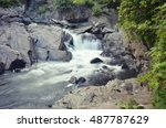 the sinks in the great smoky... | Shutterstock . vector #487787629