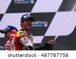 Small photo of SACHSENRING - GERMANY, JULY 17: British Honda rider Cal Crutchlow at 2016 Gopro MotoGP of Germany at Sachsenring circuit on July 17, 2016