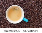 delicious cup of coffee... | Shutterstock . vector #487788484