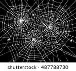halloween web background 307.... | Shutterstock .eps vector #487788730
