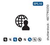 social network icon. vector... | Shutterstock .eps vector #487790350