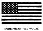 grunge usa flag.old american... | Shutterstock .eps vector #487790926