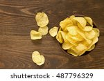 Potato Chips In Bowl On A...