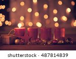 christmas decoration with...   Shutterstock . vector #487814839