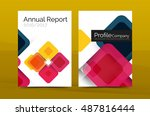 geometric abstract background ... | Shutterstock .eps vector #487816444