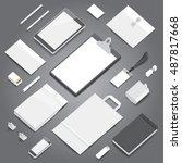 corporate identity stationery... | Shutterstock .eps vector #487817668