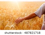 a man with his back to the... | Shutterstock . vector #487821718