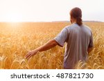 a man with his back to the... | Shutterstock . vector #487821730