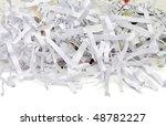 Shredded Paper On White...