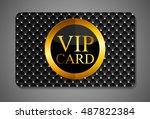 elegant dark vip card ...   Shutterstock . vector #487822384