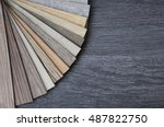 wood texture floor light oak... | Shutterstock . vector #487822750