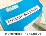 executive summary  | Shutterstock . vector #487828906